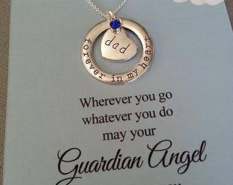 Forever In My Heart Necklace / Dad Necklace / Sympathy Necklace / Loss of Father Sympathy Gift / Grief / Mourning