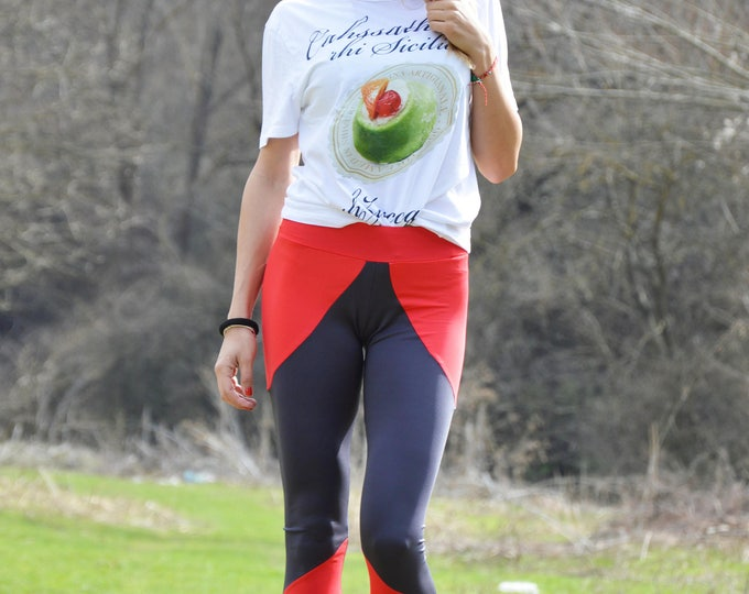 Workout Cross Training Pants, Extra Long Leggings, Elastic Yoga Pants, Fitness Tights by SSDfashion