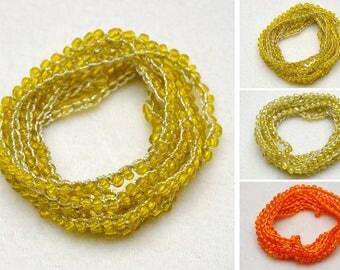 Yellow Orange Beaded bracelet Seed Beads bracelet Beaded Wrap bracelet Bohemian bracelet Beach jewelry Summer Jewelry womens gift for women