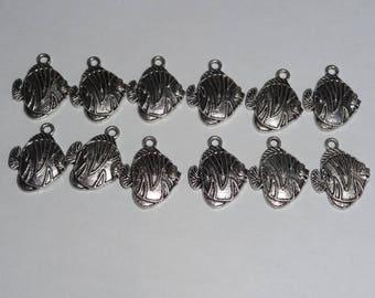Silver fish charm pendant