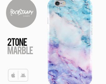 Marble Phone Case, Colourful iPhone 8 Plus, 7, X, 6, 6s, blue samsung Galaxy S8, S7 Edge, 5S, 5C, SE cover, stylish Galaxy S6 Edge cover