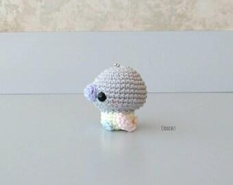 YOU-nique Mini Duckling, light blue feet duckling, duckling, duck, keychain, little duck, cute duck, unconventional color, custom-made