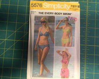 Misses BIKINI Sewing Pattern Size Medium 12-14 Simplicity #5576