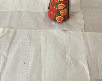 Kashmir hand painted 3 layered stainless steel pyramid tiffin