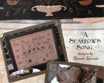 A Sparrow's Song - 3 Project pattern by Brenda Gervais (With Thy Needle and Thread) - New Old Stock-Out of Print!