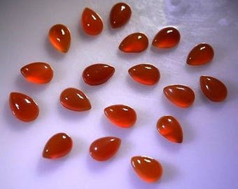 15-P Wholesale Lot Of  Natural Red onyx Pear Shape Loose Gemstone Cabochon for jewelry