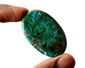 Chrysocolla 52 Cts AAA Quality Natural Gemstone Attractive Designer Oval Shape Cabochon 44x27x3.6 MM R14068
