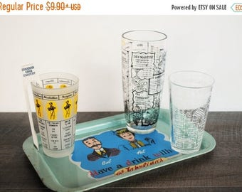 CLEARANCE SALE Vintage Glass Cocktail Shaker / Mid Century Bartending / SOLD Individually / Measuring Cup / Liquor Drink Recipes / Martini /