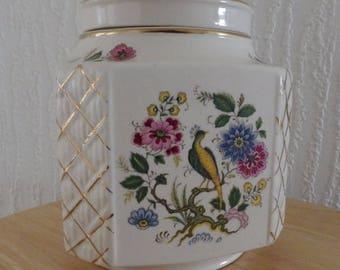 Large Vintage Sadler Bird of Paradise Ginger Jar/Tea Caddy