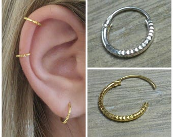 Cartilage hoop, Cartilage piercing, Gold cartilage hoop, Helix earring, Helix hoop, Helix, Helix piercing, tragus earrings, tragus jewelry