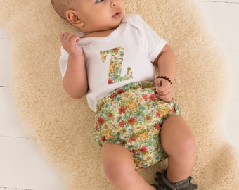 BLOSSOM Handmade Girls Liberty of London Print Baby Bloomers Nappy/Diaper Cover
