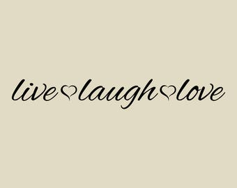 Live. Laugh. Love Wall Decal