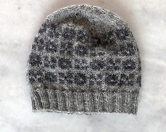 Warm winter hat, hand knitted wool hat, nordic wool hat for women, fair isle hat, womens hat, Faroese hat, gift for her, womens gift