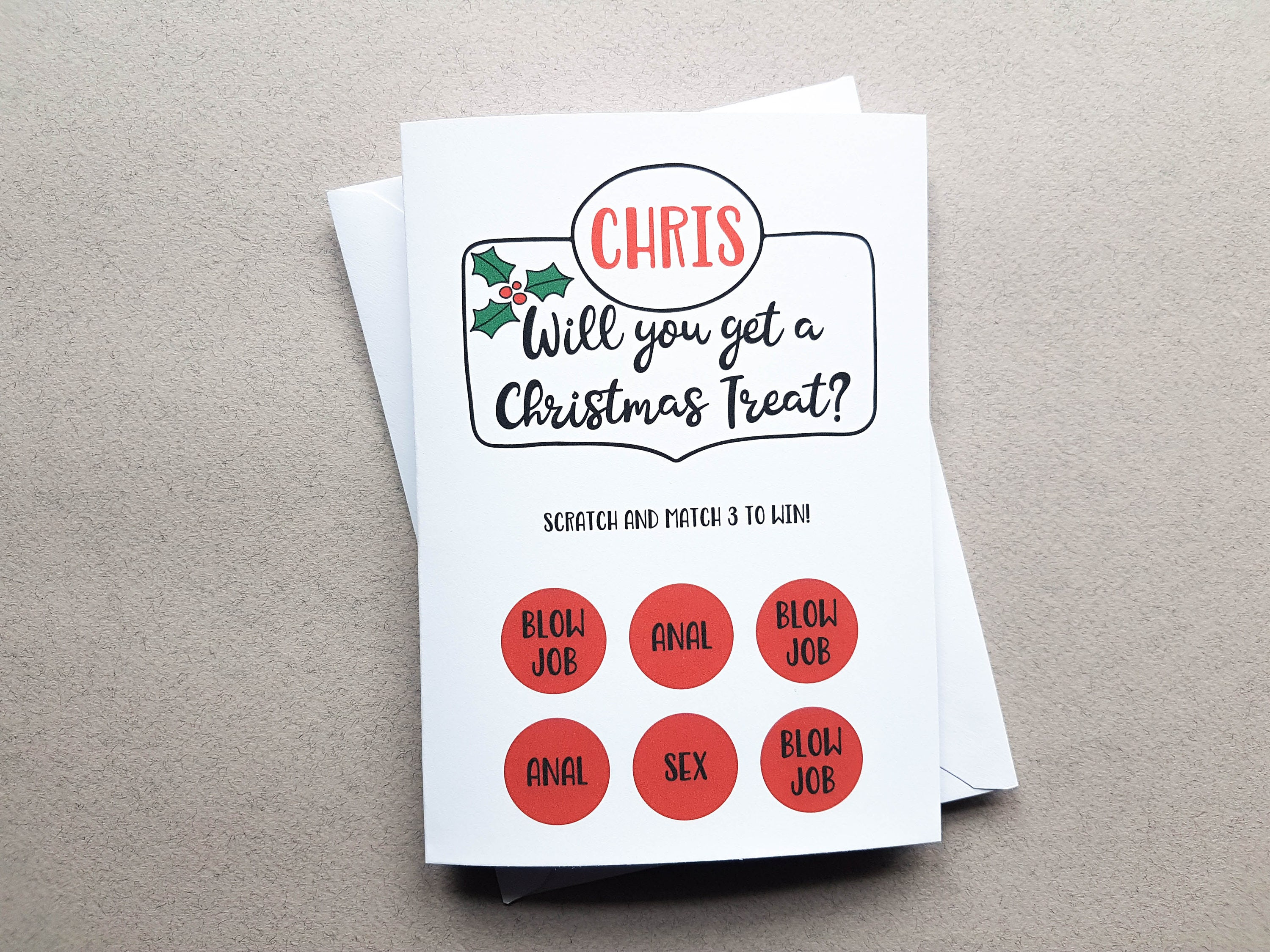 Personalised rude scratch off christmas card boyfriend christmas personalised rude scratch off christmas card boyfriend christmas card naughty card rude card kristyandbryce Image collections