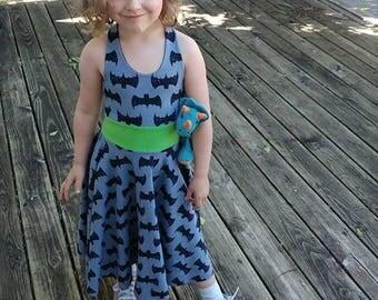 Girl's Summer Dress, Custom Aurora Dress, Twirl dress