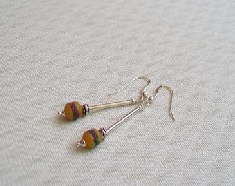 Ethnic chic earrings Silver 925
