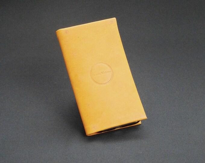 Apple iPhone 8 7 6 6S- Smartfold6 Phone Wallet - Genuine Kangaroo Leather Phone Protective Case Wallet RFID - Whiskey Tan