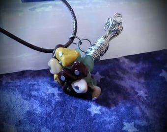 Bouquet pendant necklace