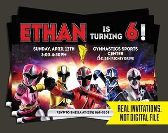 Power Rangers Invitation - Power Rangers Birthday Invitation