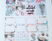 Under The Sea - set of up to 98 stickers perfect for Erin Condren Life Planner, Kikki K, Happy Planner or Filofax Planner