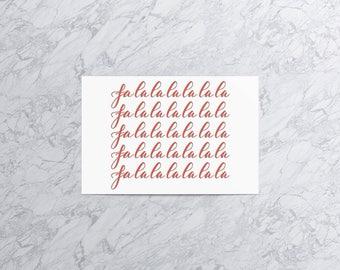 Falalalalalalalala (Version 1) | Christmas Card and Envelope (Set of 4)