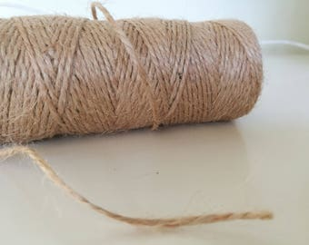 2mm Natural Jute Twine 120 Yards/110 Meters Craft Twine Gift Wrapping Burlap String Cord