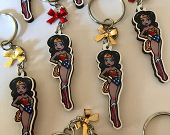 Wonder Woman, Wonder Woman Keychain, Wonder Woman Key Chain, Chibi Wonder Woman, Wonder Woman Charm, DC Super Hero, DC Comics, Superhero