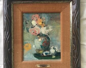 vintage framed floral print gaugin print painting framed art print framed