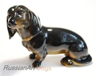 Dachshund  dog porcelain figurine, statue