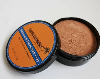 Mothers Day gift/ Moroccan Clay Rhassoul / Red Moroccan Clay / Rhassoul Clay For Oily Hair / Detox Facial Mask / Detoxifying Face Mask/