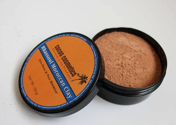 SALE 20% Moroccan Clay Rhassoul  - Face, hair and body natural clay- hair treatment-acne treatment-weight loss clay