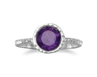 Stackable Amethyst Ring Sterling Silver