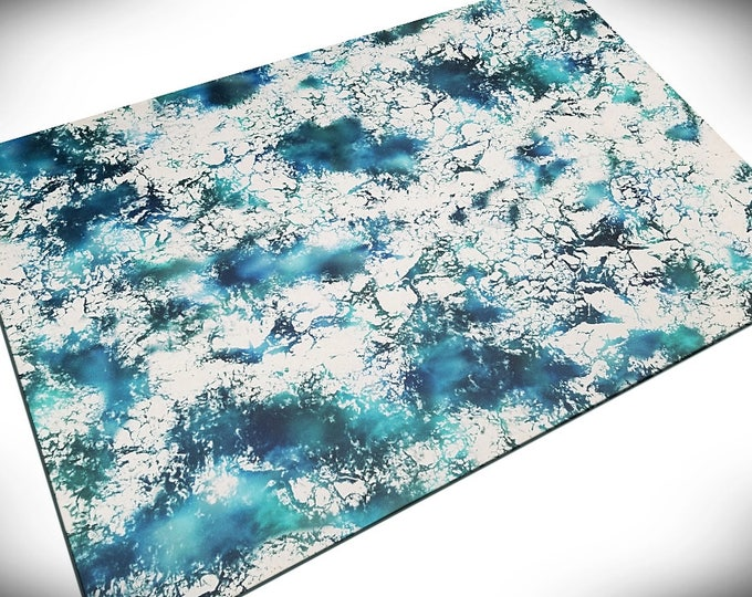 """Wargaming Terrain - """"Ice Floes"""" vinyl Gaming Mat for miniatures and other games"""