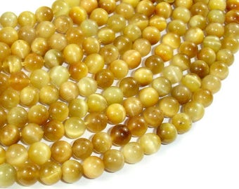Golden Tiger Eye, 6mm Round Beads, 15.5 Inch, Full strand, Approx 68 beads, Hole 1 mm (426054031)