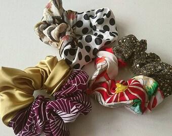 Set3 Kimono-Hair scrunchies A