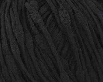 Tahki RIPPLE Mercerized Cotton 8.50 + 1.25ea to Ship - Black 08 - Soft, Drapey, Thick & Thin, Variable Gauge (See Pics) Gorgeous! MSRP 10.00
