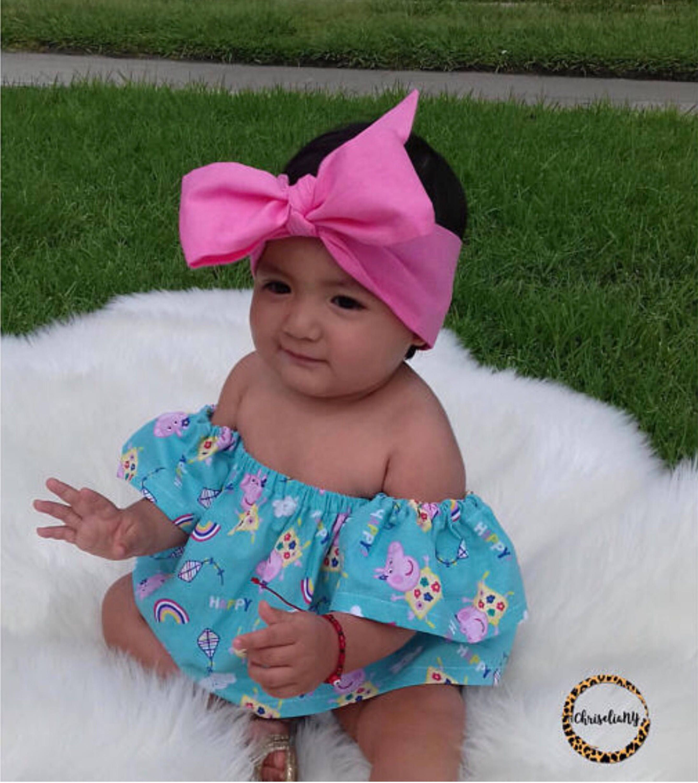 Pink Head Wrap Pink Baby Headwrap Baby Head Wrap Fabric Headwrap