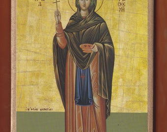 Saint Paraskevi the Virgin Martyr, Monastery of St Meletiou. Christian orthodox icon.FREE SHIPPING