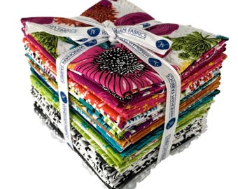 Makers Home by Natalie Barnes Fat Quarter Bundle 23 fat quarters-Windham Fabric, modern print fabrics, floral fabric, word fabric.