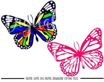 Butterfly svg / dxf / eps / png files. Digital download. Compatible with Cricut and Silhouette machines. Small commercial use ok.
