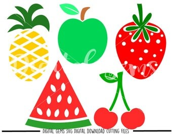 Fruit svg / dxf / eps / png files. Digital download. Compatible with Cricut and Silhouette machines. Small commercial use ok.