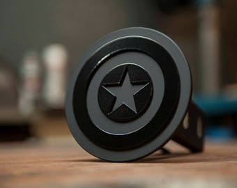 Captain America Trailer Hitch Cover- Blacked Out