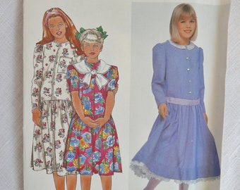 Vintage child's dress pattern, Simplicity 9758, size breast 26 to 32 inches, 1990, UNCUT