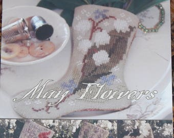 May Flowers - Three Stockings for May - by Blackbird Designs