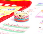 """SET OF 2 // Carnival Washi - """"Carnival Party"""" and """"Carnival Marquee"""" // """"The Greatest Chow On Earth"""" Carnival Collection - W076 & W077"""