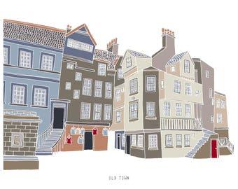 Edinburgh Old Town Print