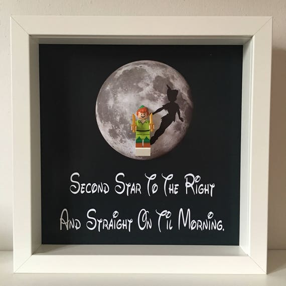 Peter Pan Minifigure Frame, Mum, Gift, Geek, Box Frame, Friends, Dad, Idea, Birthday, Anniversary, For Him, Lego, Christmas,