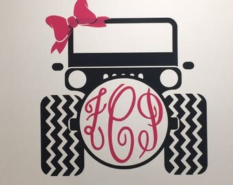 Monogrammed Jeep Vinyl Decal