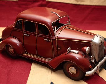 last MG tin toy tinplate car blechmodell auto voiture handmade replica vintage antique
