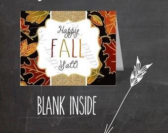 Happy Fall Y'all Digital Greeting Cards